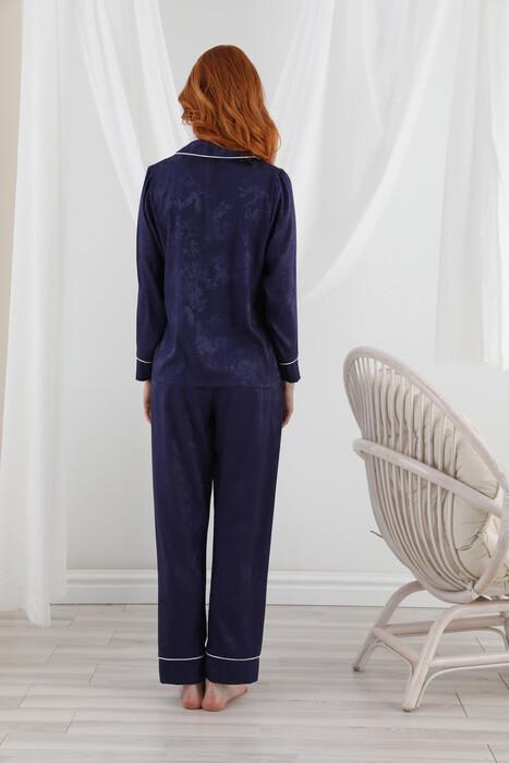 SEVİM - 13063 Kadın Dantelli Saten Pijama Takım (1)