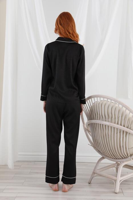 SEVİM - 13064 Kadın Dantelli Saten Pijama Takım (1)