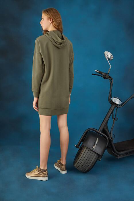 GİZZEY - 20664 Kadın Kapüşonlu Elbise (1)
