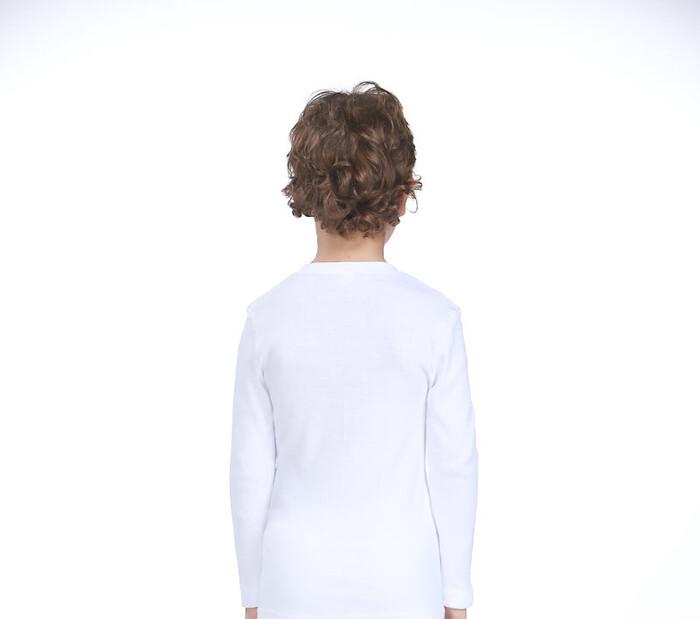 ZEYZEY - 4'Lü Ribana Erkek Çocuk Uzun Kol T-Shırt (1)