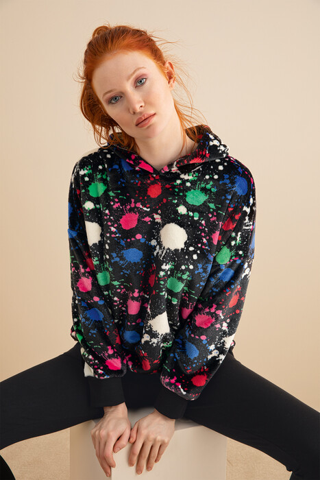 ZEY - 30333 Bayan Süpersoft Sweatshirt