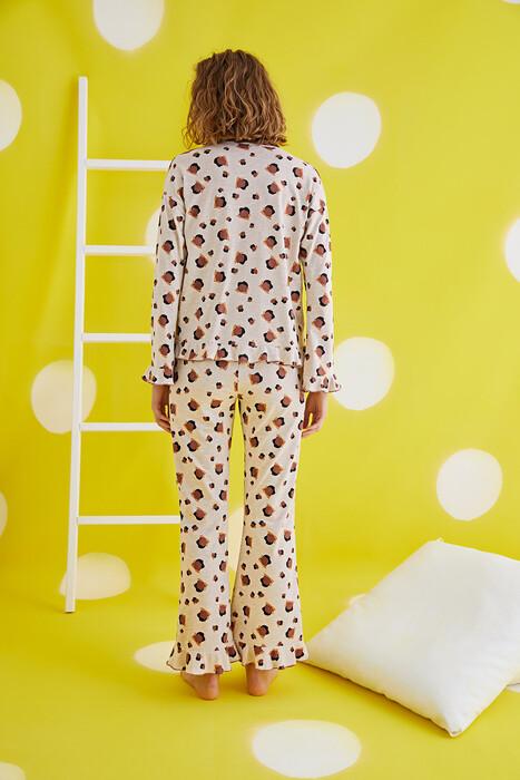 ZEY - 30373 Bayan Düğmeli Pijama Takım (1)