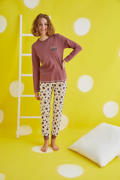 ZEY - 30372 Bayan Baskılı Pijama Takım (1)