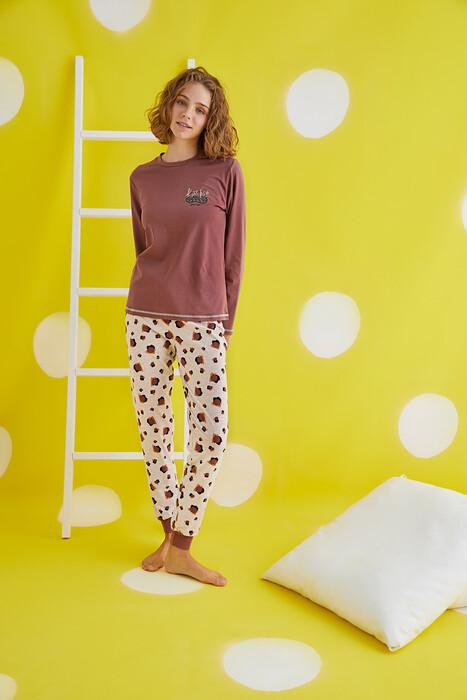 ZEY - 30372 Bayan Baskılı Pijama Takım