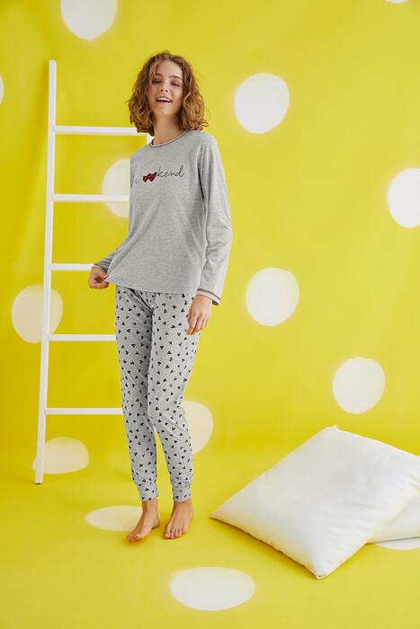 ZEY - 30399 Bayan Baskılı Pijama Takım