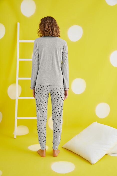 ZEY - 30399 Bayan Baskılı Pijama Takım (1)