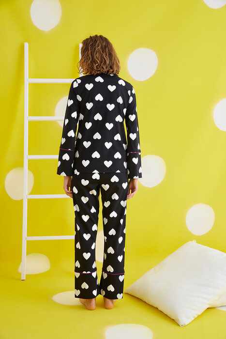 ZEY - 30414 Bayan Düğmeli Pijama Takım (1)