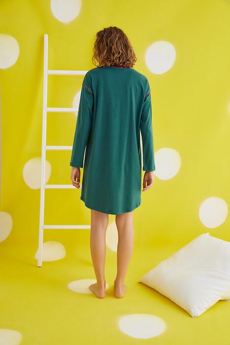 ZEY - 30413 Bayan Baskılı Uzun Kol Tunik (1)