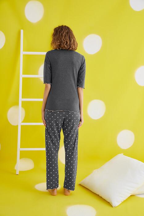 ZEY - 30420 Bayan Baskılı Pijama Takım (1)