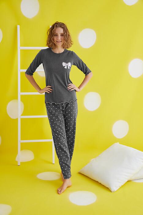 ZEY - 30420 Bayan Baskılı Pijama Takım