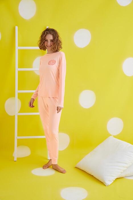 ZEY - 30436 Bayan Baskılı Pijama Takım