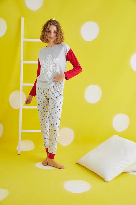 ZEY - 30440 Bayan Baskılı Pijama Takım