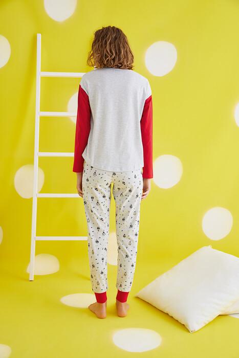 ZEY - 30440 Bayan Baskılı Pijama Takım (1)
