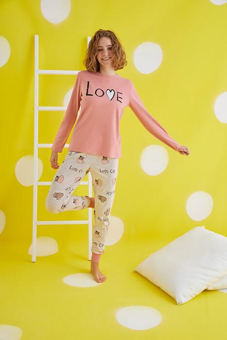 ZEY - 30433 Bayan Baskılı Pijama Takım