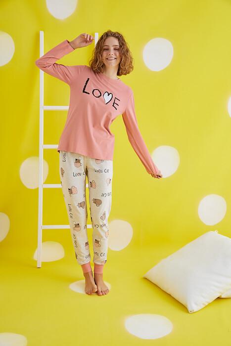 ZEY - 30433 Bayan Baskılı Pijama Takım (1)