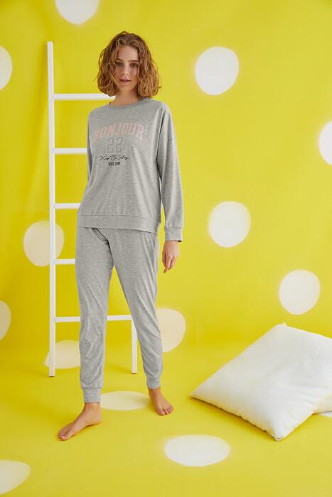 ZEY - 30448 Bayan Baskılı Pijama Takım