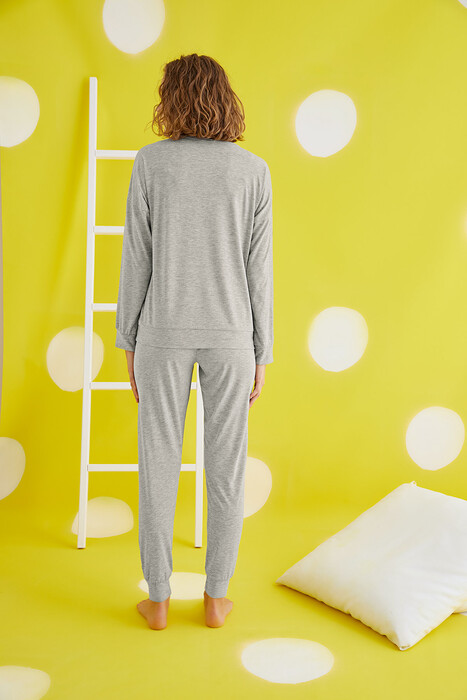 ZEY - 30448 Bayan Baskılı Pijama Takım (1)