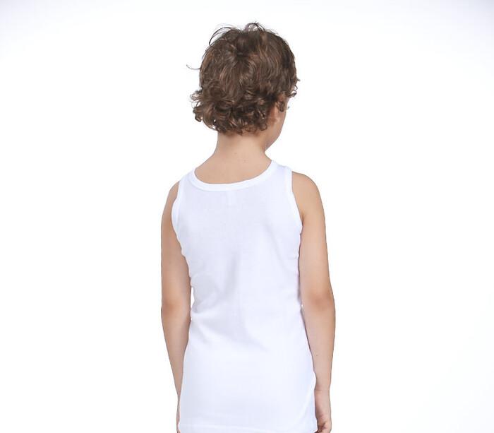 ZEYZEY - 2'Li Erkek Çocuk Beyaz Atlet (1)