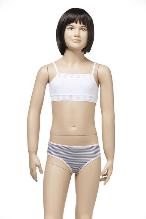 ZEYZEY - 3'lü Ribana Kız Çoçuk Yarım Atlet