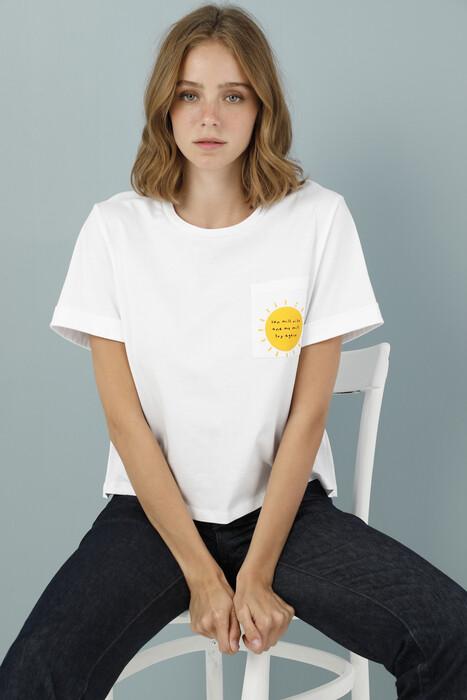 ZEY - Bayan Baskılı Basic T-Shirt