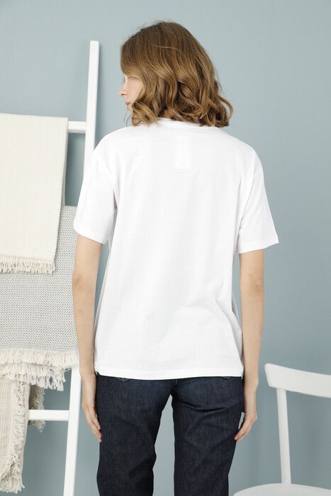 ZEY - Bayan Baskılı Boyfriend T-Shirt (1)