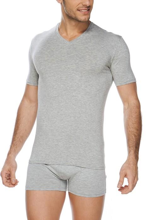 SVM - Erkek Modal Likralı V Yaka T-shirt