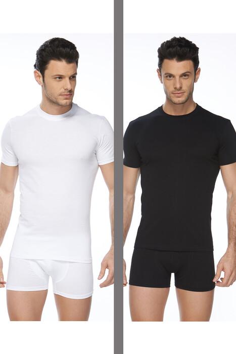 SVM - Erkek 2'Li Penye Tişört Asorti Paket