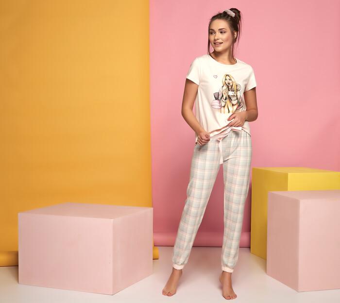 SEVİM - Kadın Baskılı Pijama Takım