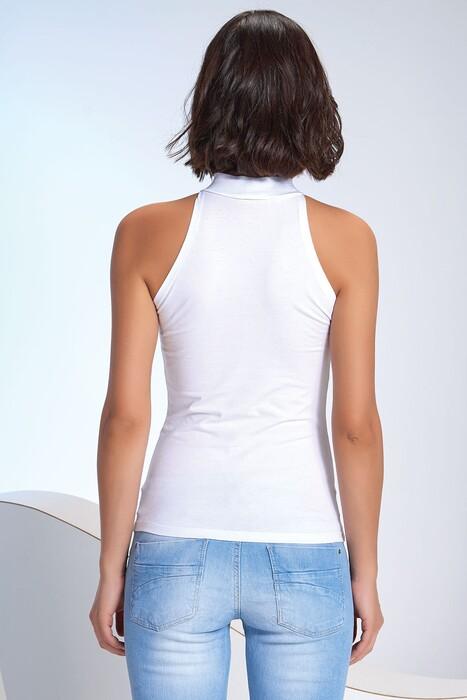 SEVİM - Kadın Dik Yaka Kolsuz T-Shirt (1)