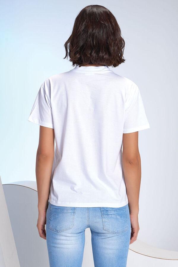 Kadın Dik Yaka T-Shirt