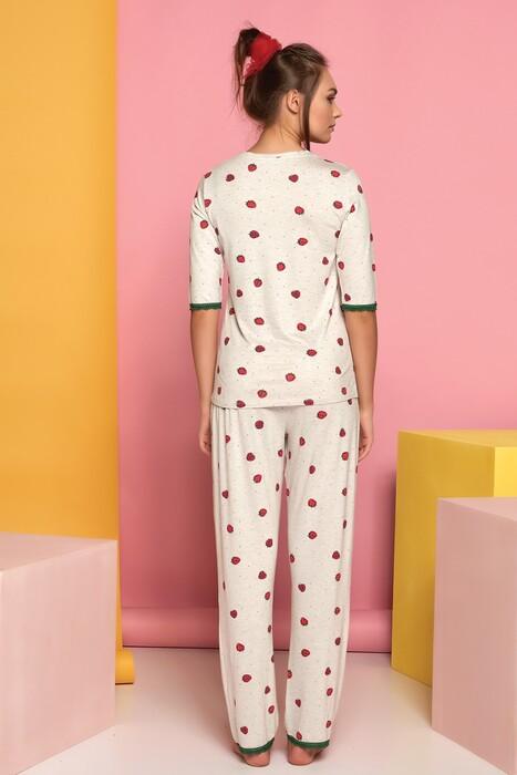 SEVİM - Kadın Kısa Kol Pijama Takım (1)