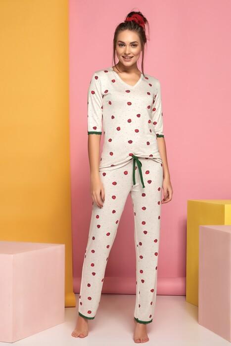 SEVİM - Kadın Kısa Kol Pijama Takım