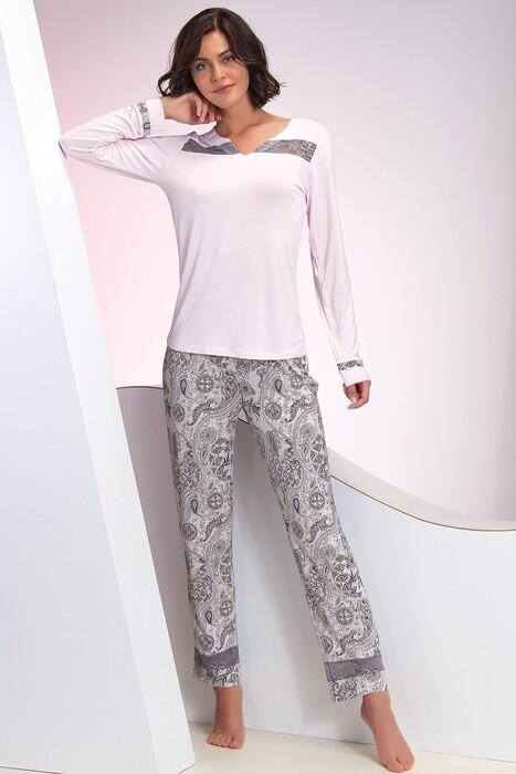 SEVİM - Kadın Pembe Pijama Takım
