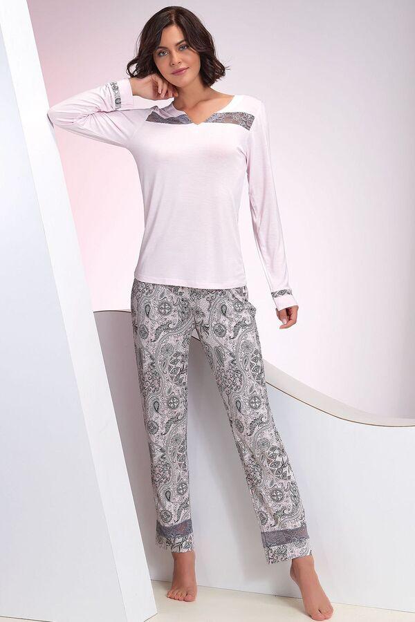Kadın Pembe Pijama Takım