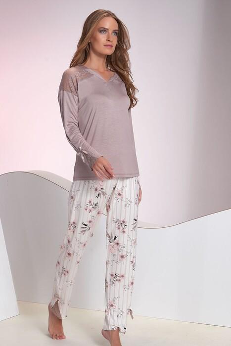SEVİM - Kadın Vizon Pijama Takım