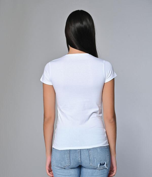 SEVİM - Kadın 2'Li Likralı V Yaka Tişört (1)